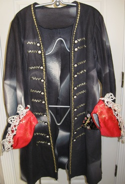 Pirate Coat with Lacy Cuffs