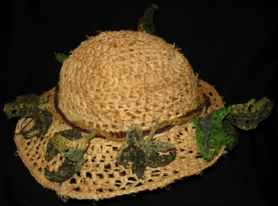 Ivy Hat, crocheted raffia by C. Buffalo Larkin
