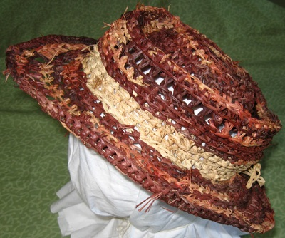 Out of Africa Hat (brown), crocheted raffia by C. Buffalo Larkin