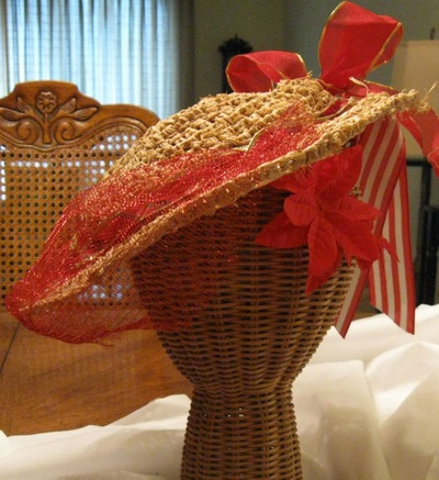 Custom Hat for Jenna, crocheted raffia by C. Buffalo Larkin