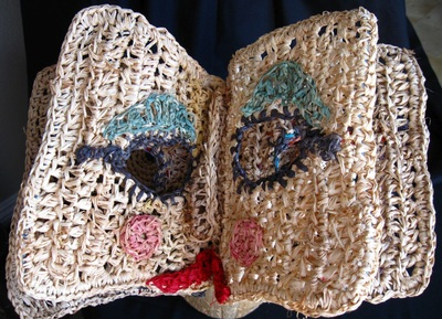 Book Hat Page 3 & 4, crocheted raffia by C. Buffalo Larkin