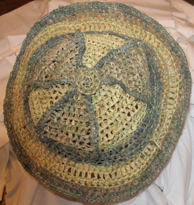 Pith Helmet, crocheted raffia by C. Buffalo Larkin