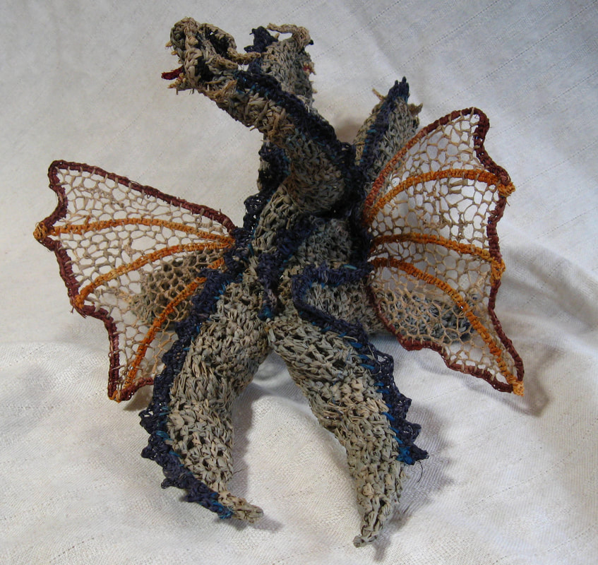 Ghidorah rendered in raffia, image 2