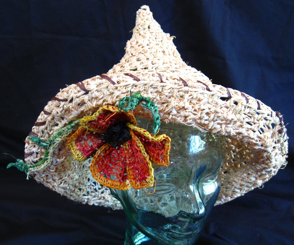 Sombrero with California Poppy